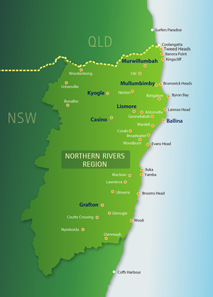 RDA-NR Northern Rivers Region - Map